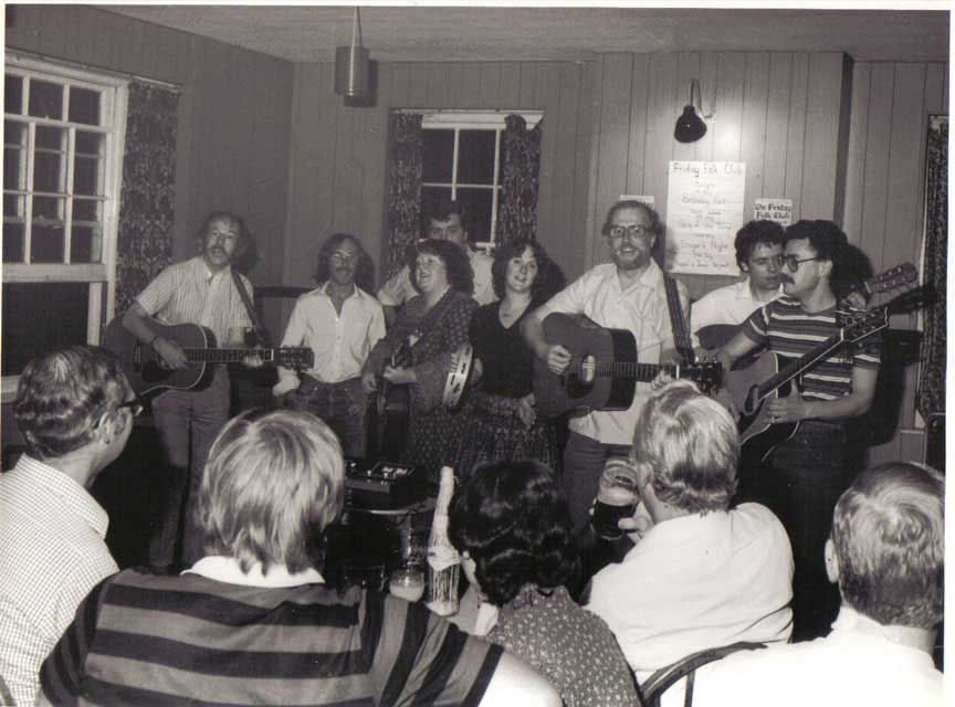 Deal Folk Club at the Yew Tree Inn in 1983